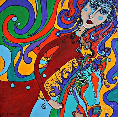 Art Print featuring the painting Carousel Dance by Alison Caltrider