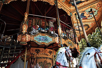 Photograph - Carousel Details by John Rizzuto