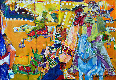 Carousel Dreams Art Print by Charles M Williams