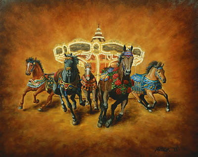 Carousel Escape Art Print