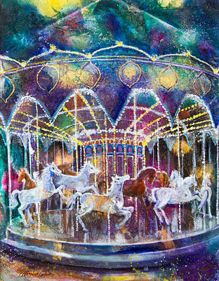 Carousel Galaxy Original by Patricia Allingham Carlson