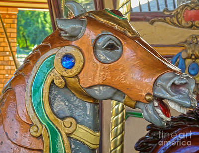 Photograph - Carousel Horse - 04 by Gregory Dyer