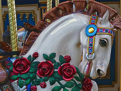 Photograph - Carousel Horse Card by Bill Owen
