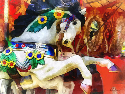 Photograph - Carousel Horse Closeup by Susan Savad