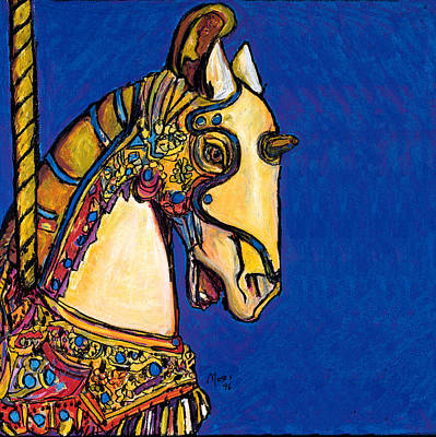 Carousel Horse Painting - Carousel Horse by Dale Moses