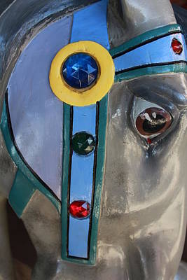 Art Print featuring the photograph Carousel Horse by Diane Alexander