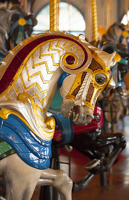 Photograph - Colorful Carousel Merry-go-round Horse by Jerry Cowart