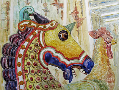 Painting - Carousel Horse by Louise Peardon