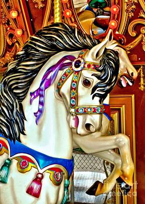 Photograph - Carousel Horse by Margaret Newcomb