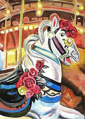Carousel Horse Art Print by Melinda Saminski