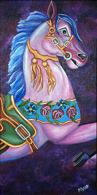 Painting - Carousel Horse by Michelle Joseph-Long