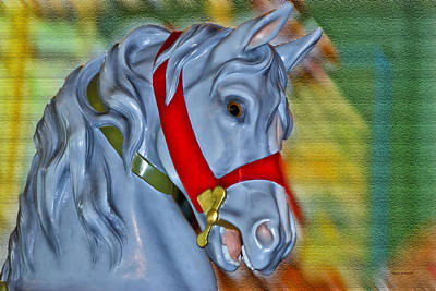 Carousel Horse Red Bridle Art Print by Thomas Woolworth