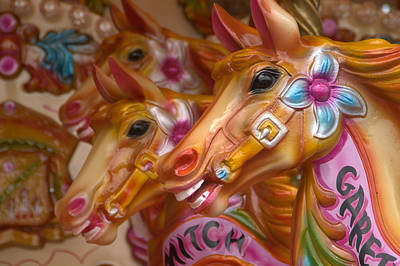 Photograph - Carousel Horses by Phil Darby