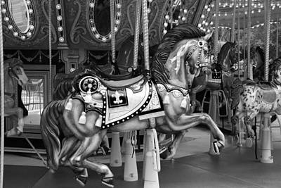 Movies Star Paintings - CAROUSEL in BLACK AND WHITE 3 by Rob Hans