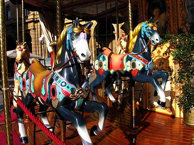Photograph - Carousel In Florence Italy by Jacqueline M Lewis