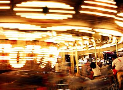 Carousel In Motion Art Print by Jp Grace