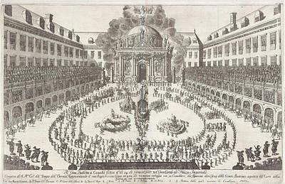 Carousel Drawing - Carousel In The Hofburg In Vienna, Jan Van Ossenbeeck by Jan Van Ossenbeeck