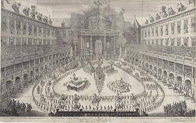 Carousel Drawing - Carousel In The Vienna Hofburg, Austria, Jan Van Ossenbeeck by Jan Van Ossenbeeck