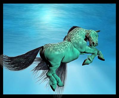 Animals Digital Art - Carousel IX by Betsy Knapp