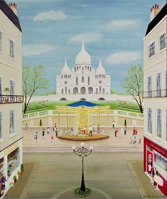 Sacre Coeur Photograph - Carousel by Mark Baring