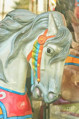Carousel Painted Pony Art Print by Colleen Kammerer