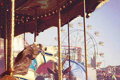 Photograph - Carousel Ride by Cindy Garber Iverson