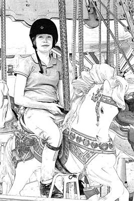 Photograph - Carousel Rider by Alice Gipson