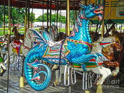 Painting - Carousel Sea Dragon by Gregory Dyer