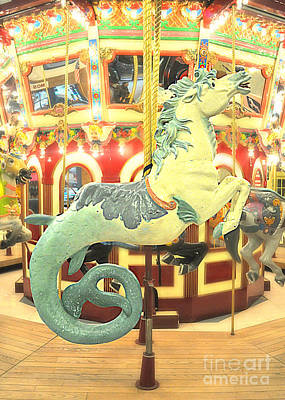 Spot Of Tea Rights Managed Images - Carousel Sea Horse  Royalty-Free Image by Mindy Bench