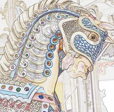 Carousel Stallion Art Print