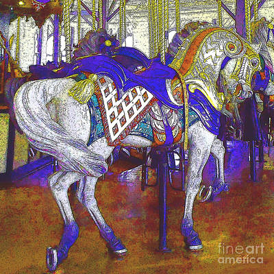 Digital Art - Carousel Steed by Suzette Kallen