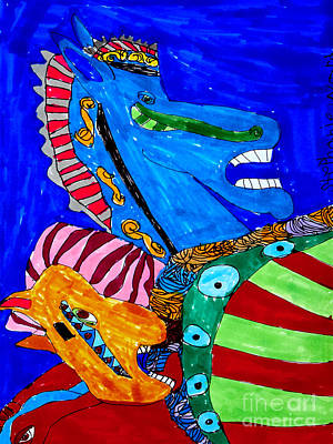 Merry-go-round Drawing - Carousel by Stephanie Ward