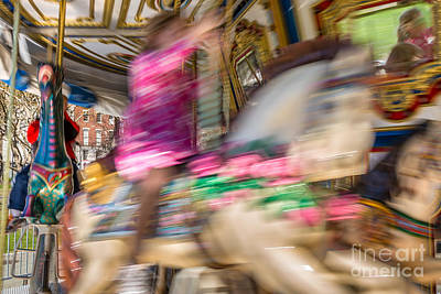 Digital Art - Carousel by Susan Cole Kelly Impressions