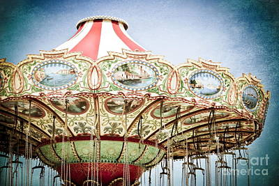 Carousel Top Art Print by Colleen Kammerer