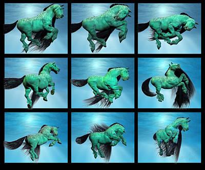 Animals Digital Art - Carousel XIII by Betsy Knapp