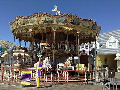 Photograph - Carousel's Pony's by Becky Lupe