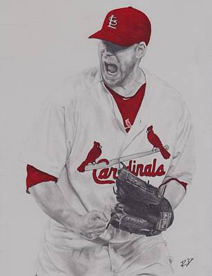 St. Louis Cardinals Drawing - Carp by Robbie Douglas