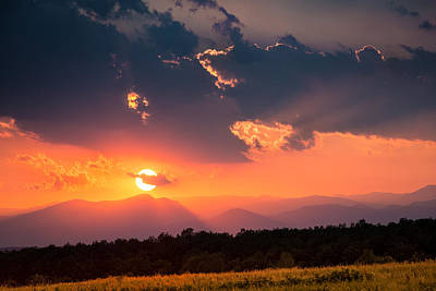 Art Print featuring the photograph Carpathian Sunset by Mihai Andritoiu
