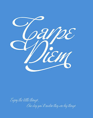 Carpe Diem Art Print by Gina Dsgn
