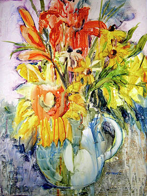 Floral Still Life Painting - Carpe Diem by Kris Parins