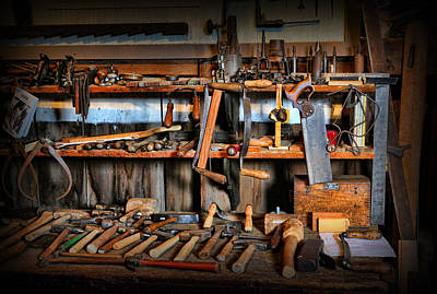 Carpenter - The Workman's Bench Art Print by Lee Dos Santos