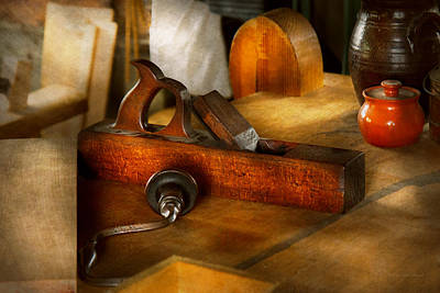 Photograph - Carpenter - The Humble Shop Plane by Mike Savad