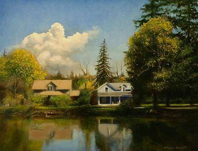 Print featuring the painting Carpenter's Pond by Wayne Daniels