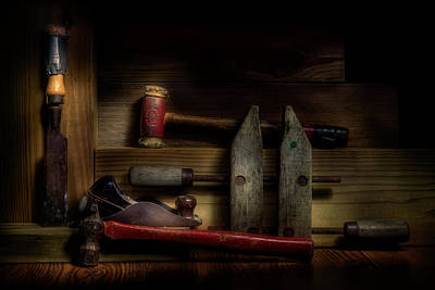 Low-key Photograph - Carpentry Still Life by Tom Mc Nemar