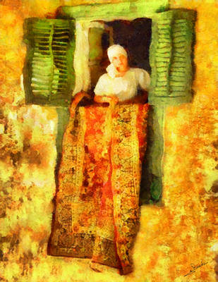 Expressionism Painting - Carpet Cleaning by George Rossidis