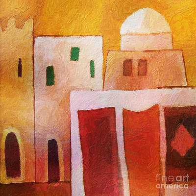 Northern Africa Painting - Carpet Town by Lutz Baar