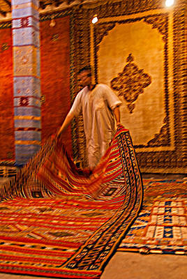 Photograph - Carpet Workshop Near Ouarzazate In Morocco by Ellie Perla
