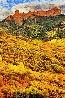 Mountains Painting - Carpeted In Autumn Splendor by Jeff Kolker