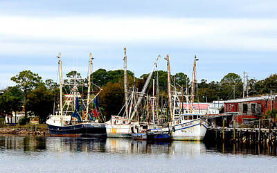 Photograph - Carrabelle Shrimp Boats by Carla Parris