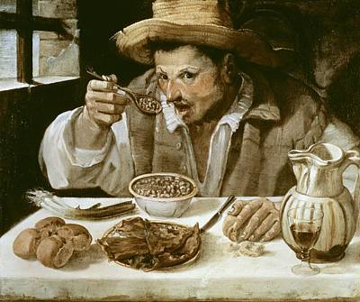 Oil Knife Photograph - Carrache, Annibale. The Beaneater. Ca by Everett